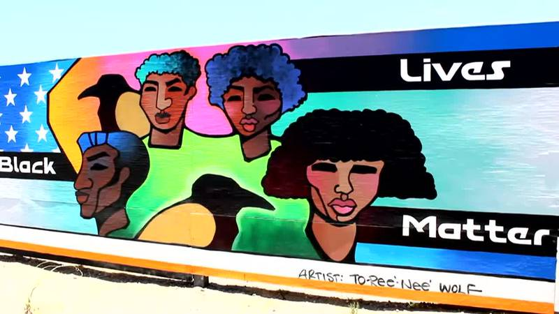 Murals with a message: Artists paint downtown in support of Black Lives Matter
