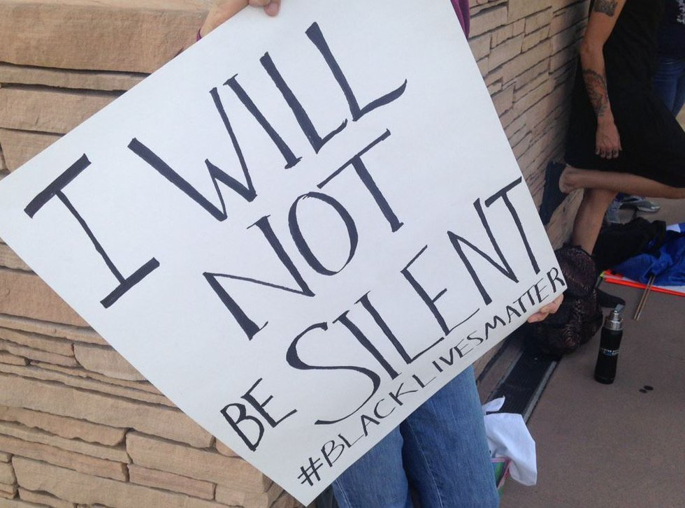 A group called Showing Up for Racial Justice held a rally outside the federal courthouse in...