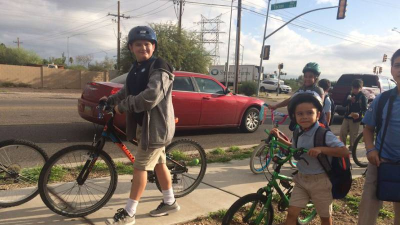 Hundreds of southern Arizona students participated in Walk N Roll on Friday, Sept. 27, to get...