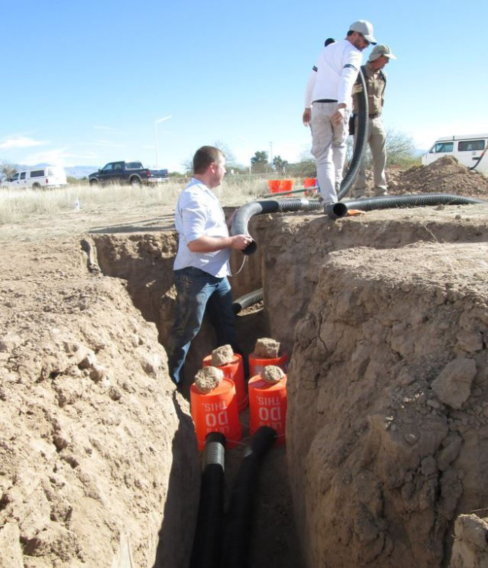 New artificial burrows built for the owls. (Source: Pima County)