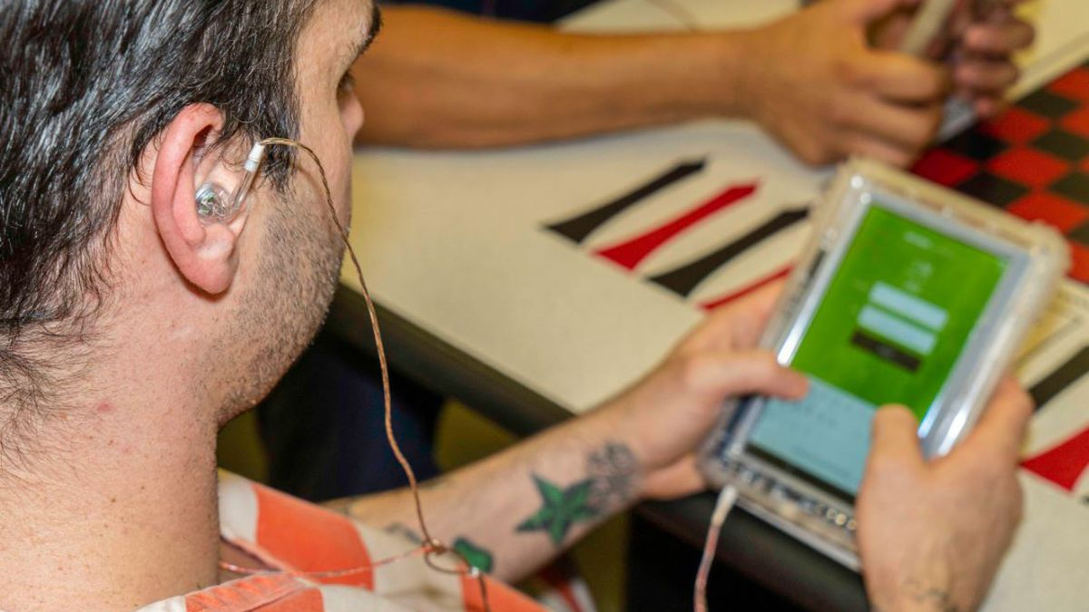 Inmates are now able to use tablets to help advance their education, and gain new skills while...