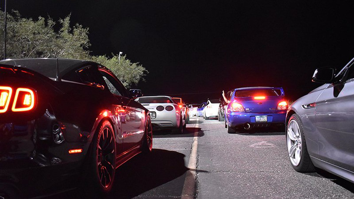 In roll racing, competitors roll onto the drag strip instead of starting from a complete stop.