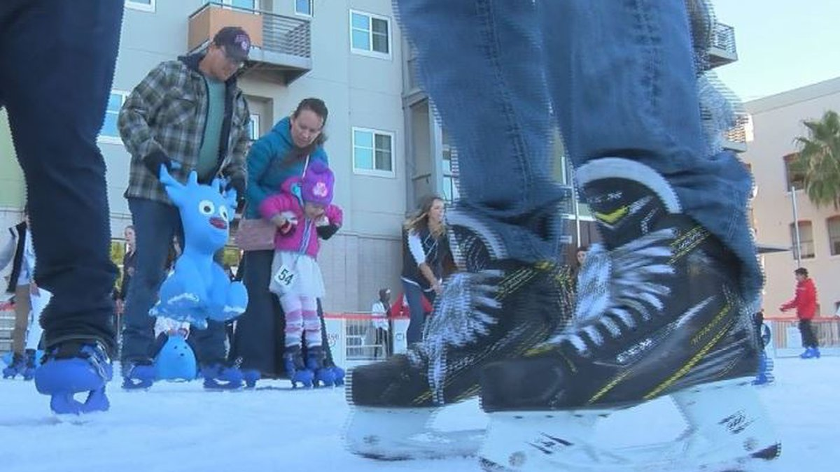 The rink is a first of its kind for downtown Tucson.