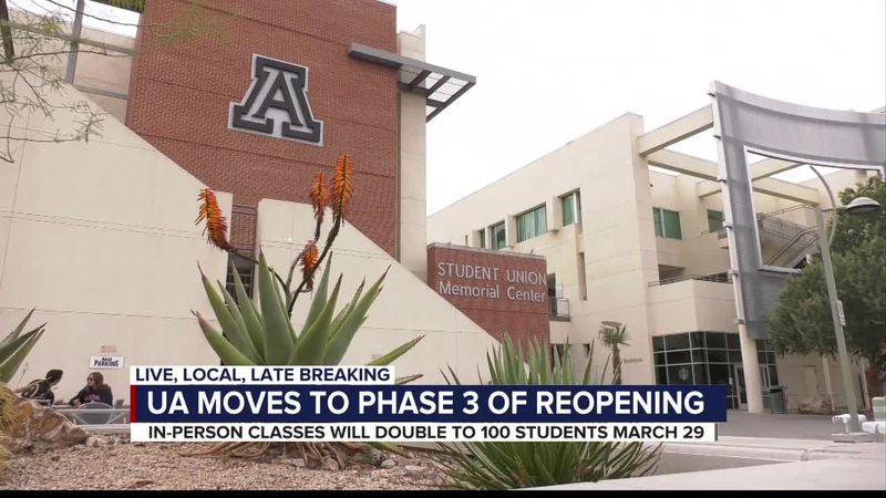 The U of A announced its plan to move into Stage Three starting the week of March 29. Under...