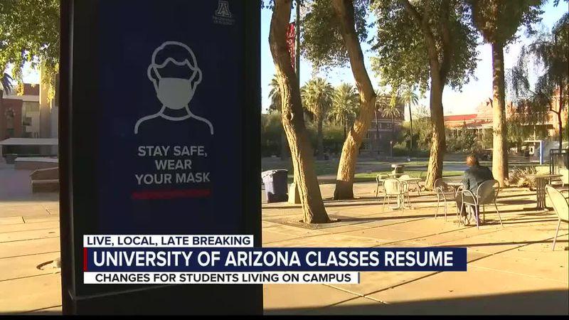 UA students return to class