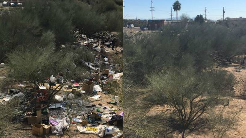 A wash before and after clean up (Source: KOLD News 13)