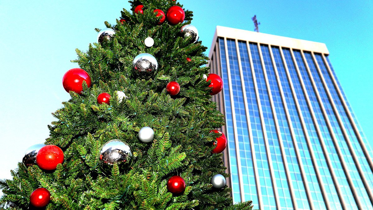 Tucson Mayor Jonathan Rothschild lighted the Downtown Tucson Christmas tree Friday, Nov. 23, in...