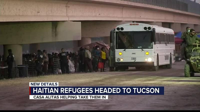 Haitian refugees headed to Tucson