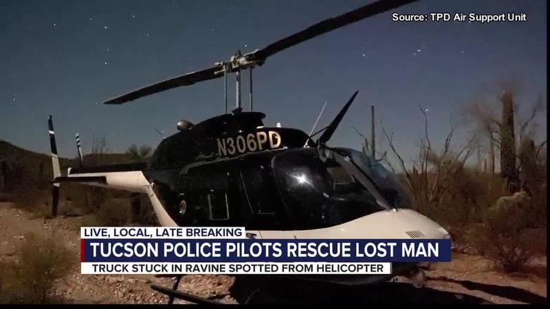 Tucson police pilots rescue lost man