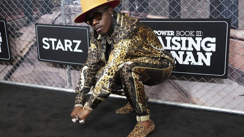 """DaBaby attends the world premiere of """"Power Book III: Raising Kanan"""" at the Hammerstein..."""