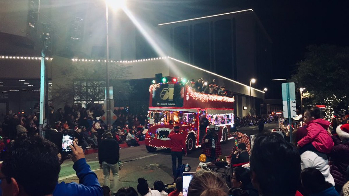 Floats rolled through Downtown Tucson Saturday night.
