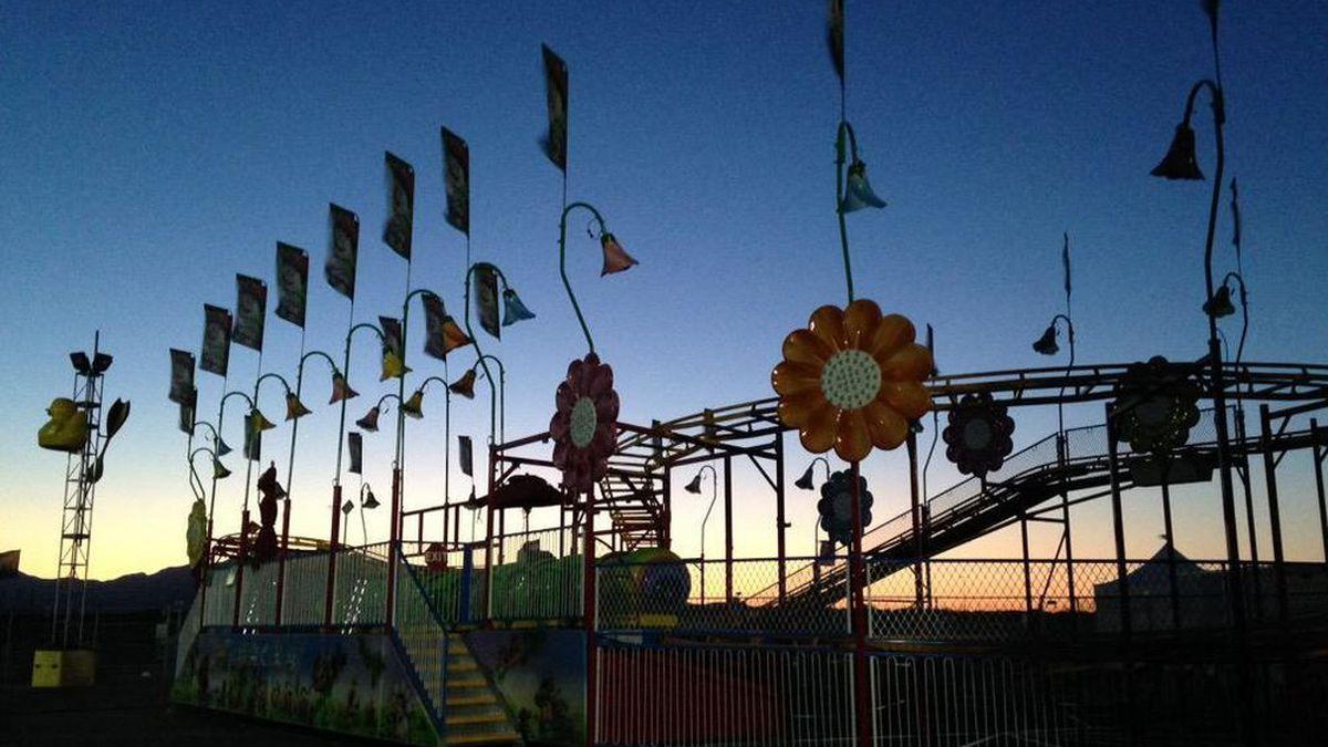 Sun rising over a Pima County Fair ride (Source: Tucson News Now)