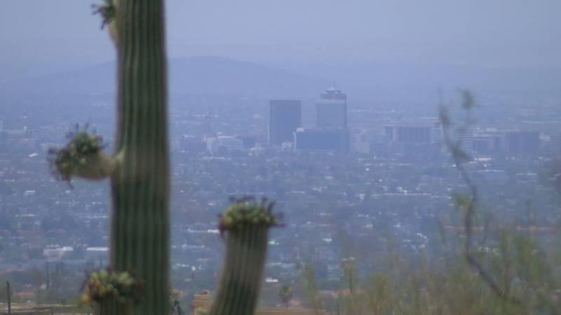 Smoke and haze engulf Tucson Tuesday.