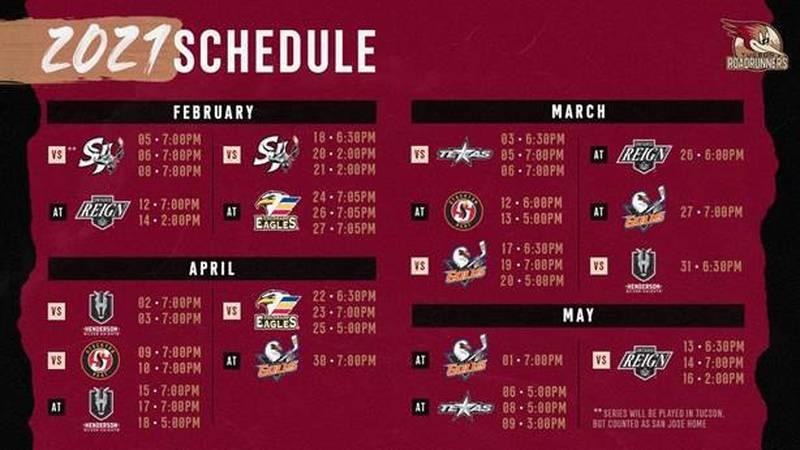 Roadrunners announce season schedule, fan attendance still in discussion