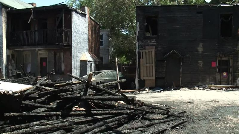 An abandoned garage burst into flames Thursday night after investigators say a child was...