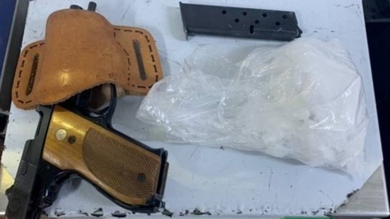 Yuma Sector canine finds drug and a handgun at an immigration checkpoint.