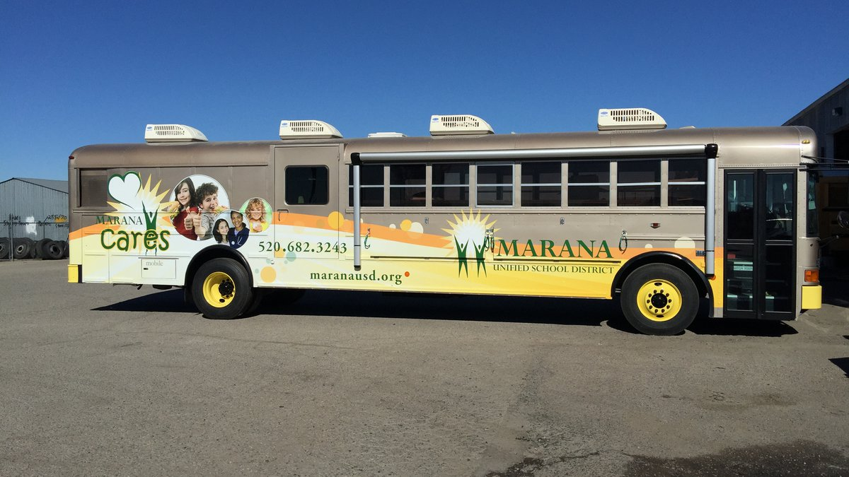 The Marana Unified School District provides free meals for students during each fall, winter...