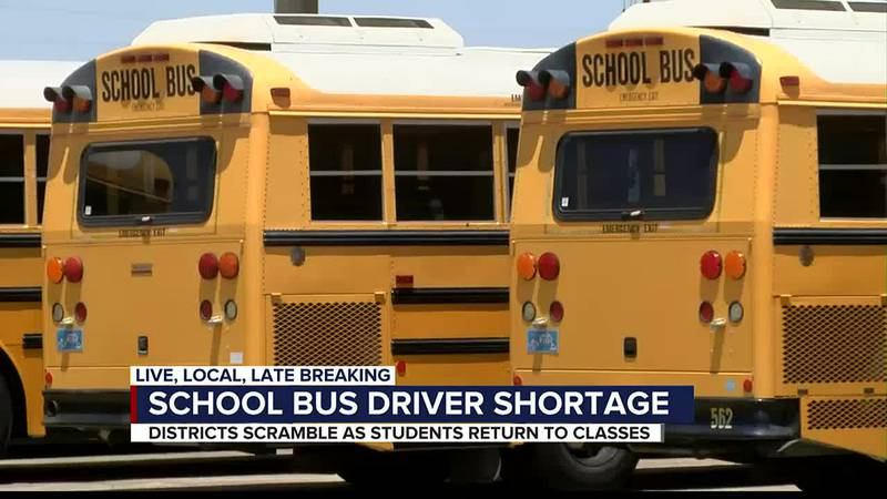 School districts across the nation are scrambling to find bus drivers as the school year...