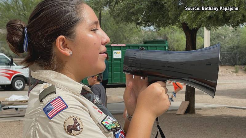 Viloria Enciso moved from Mexico a few years ago, where girls have been a part of scouts for...