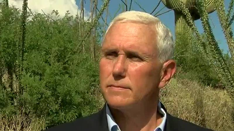 Vice President Mike Pence visited southern Arizona on Thursday, Oct. 3.