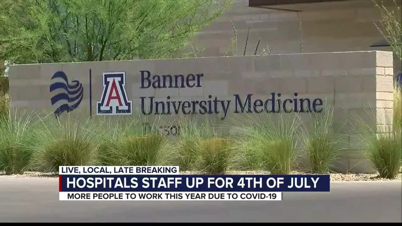 Hospital staffing for fourth of July