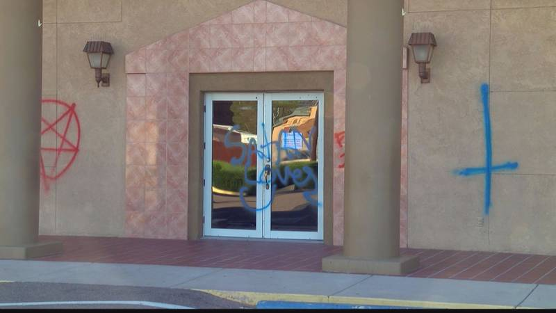 Vandals struck the Flowing Wells Assembly of God church at 3198 N. Flowing Wells Road. (Source:...