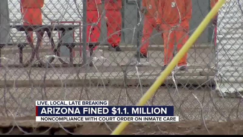 Arizona Department of Corrections fined