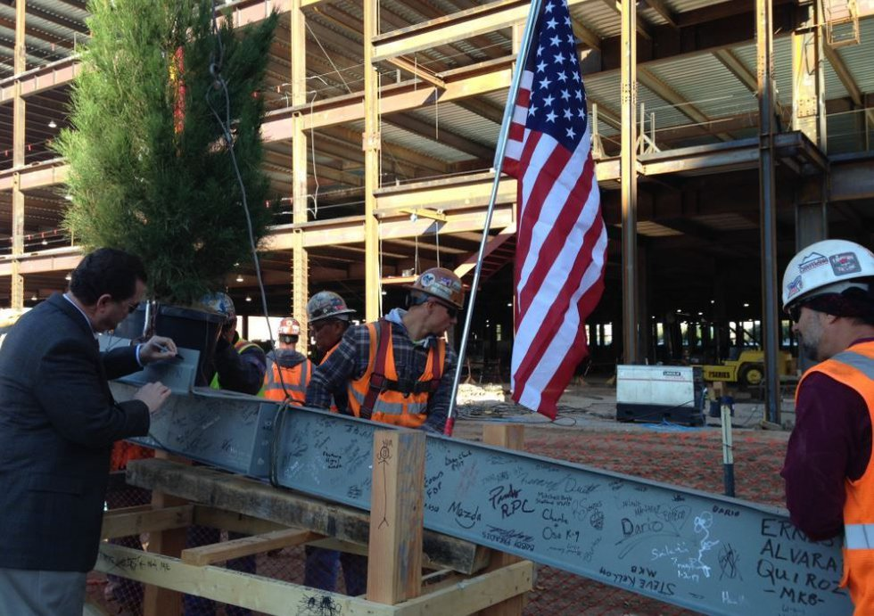 Signed beam to go into the new tower. (Source: Tucson News Now)