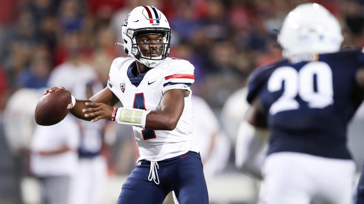 University of Arizona quarterback Jordan McCloud will miss the season due to injuries,...