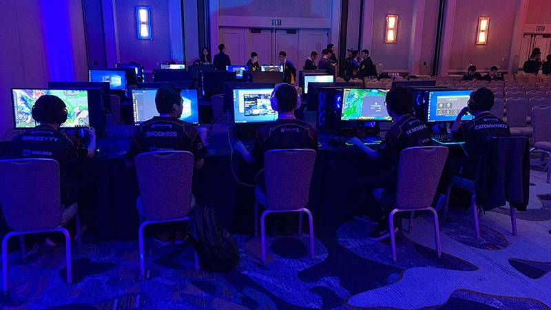 The popularity of esports, here being played by the ASU League of Legends team, is growing...