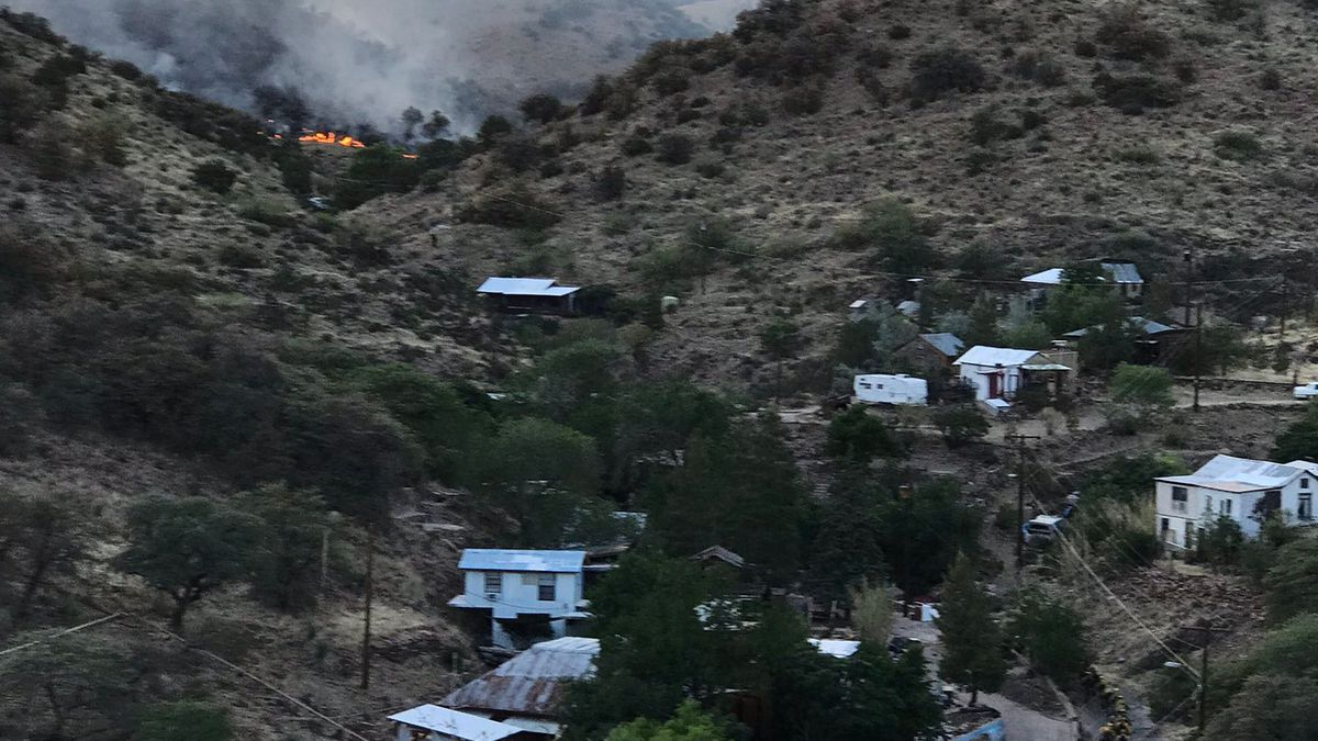 Crews battle a wildfire in the Bisbee area late Thursday, May 13.
