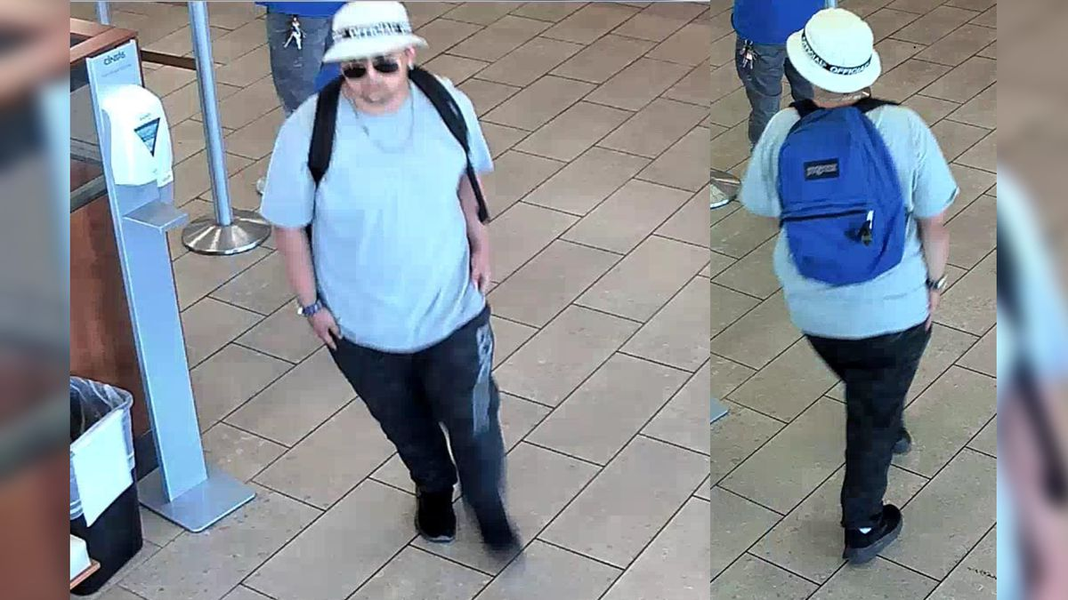 Tucson police are searching for the man pictured above. He's a suspect in an attempted bank...
