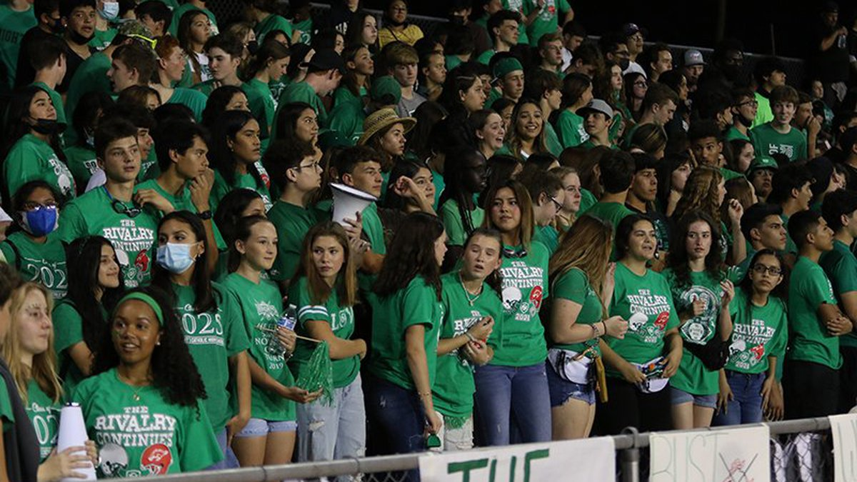 Like at many high school football games Friday night, Sept. 3, most fans at the St....