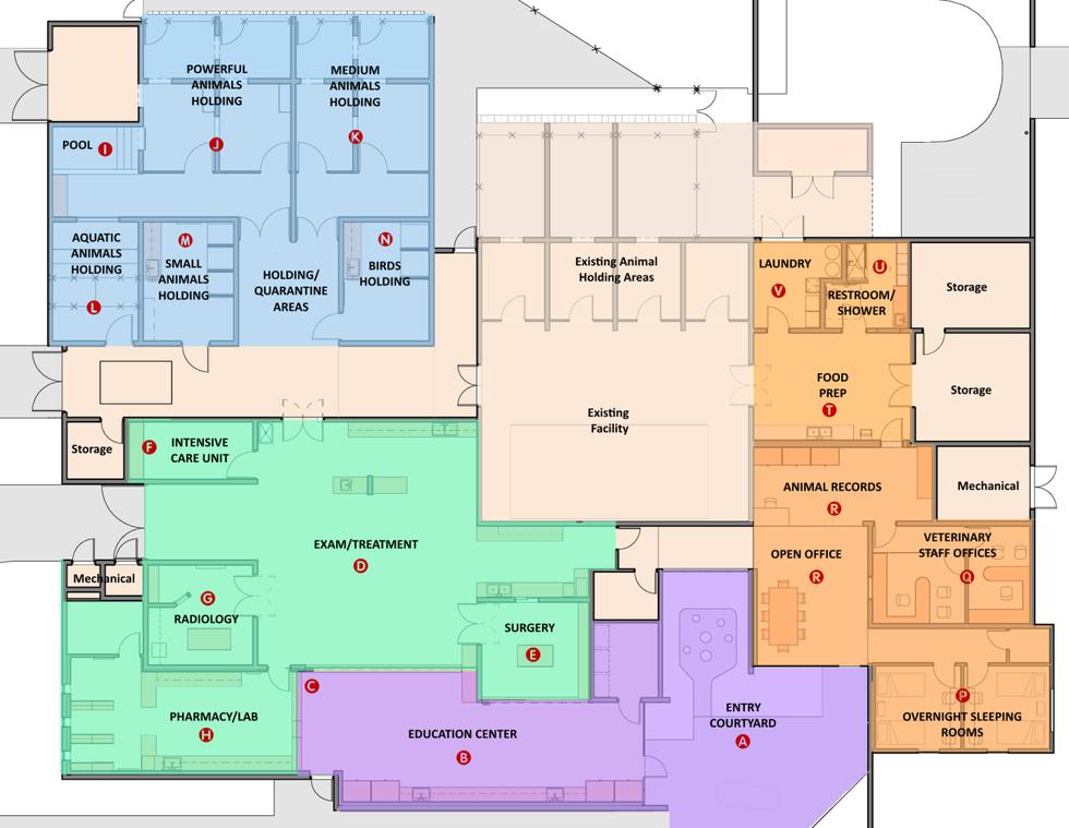 Blueprints of the plan. (Source: Reid Park Zoo)