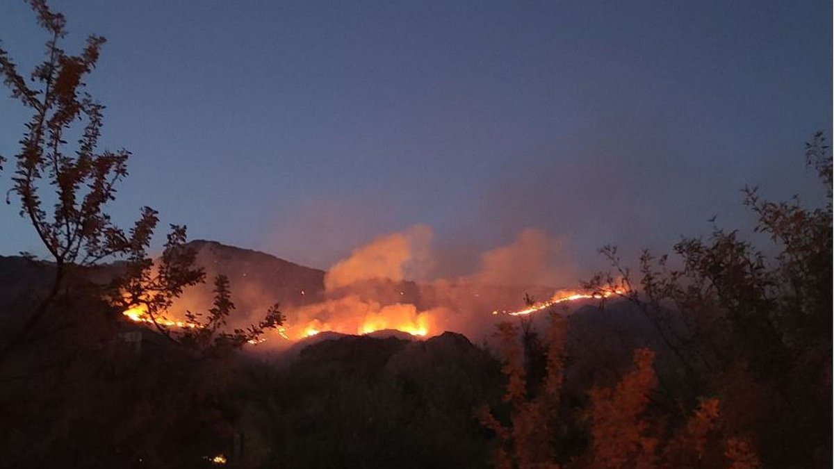 Bighorn Fire in the Catalina Mountains near Tucson on June 26.