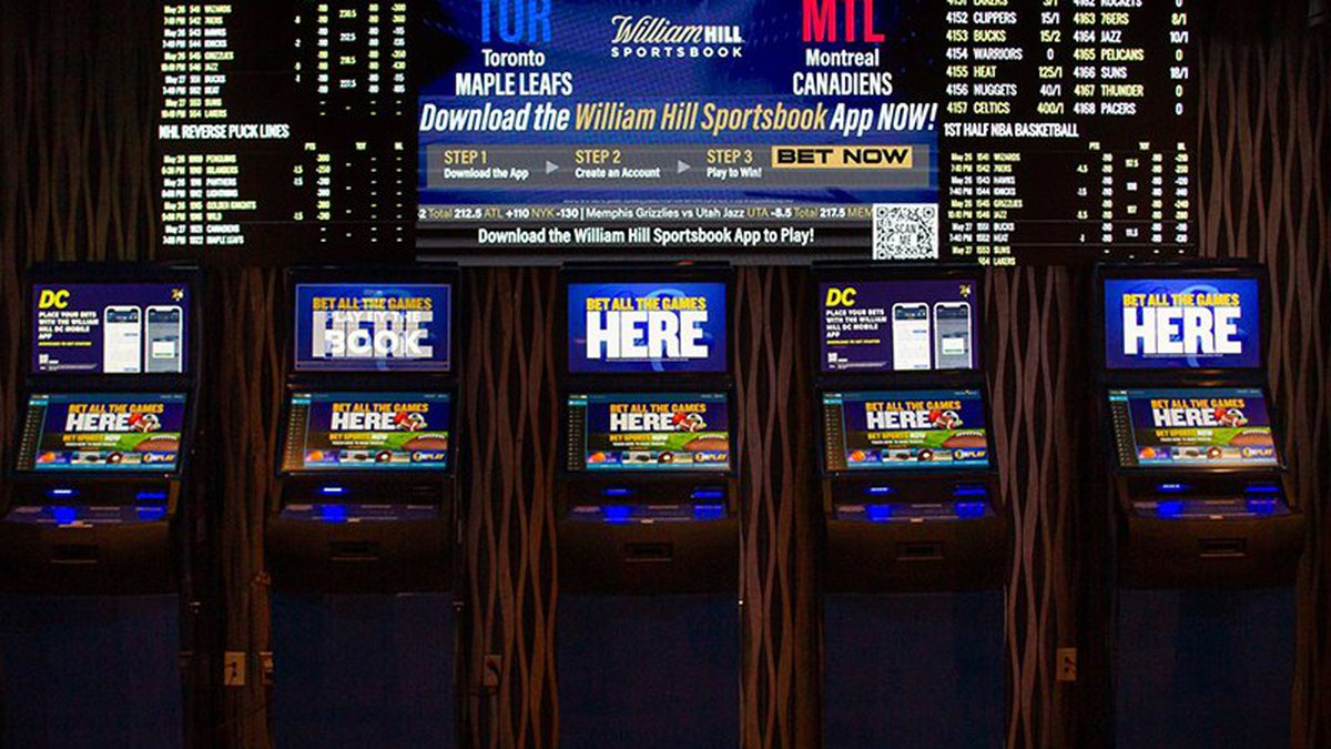 Kiosks like this one at Capital One Arena in Washington, D.C., will soon be a familiar sight to...