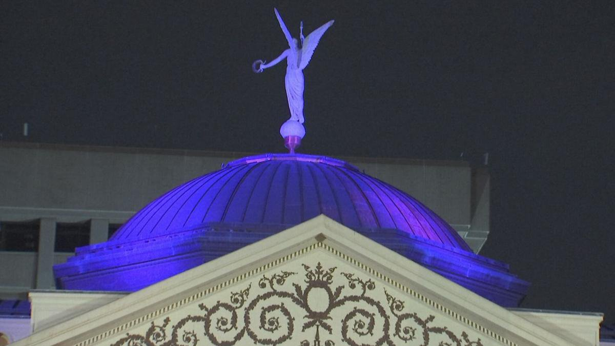 The Arizona Capitol dome will stay lit throughout October.