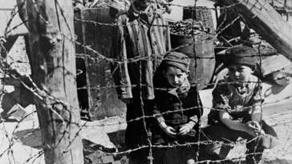 """Soon after liberation, camp survivors from Buchenwald's """"Children's Block 66""""—a special..."""