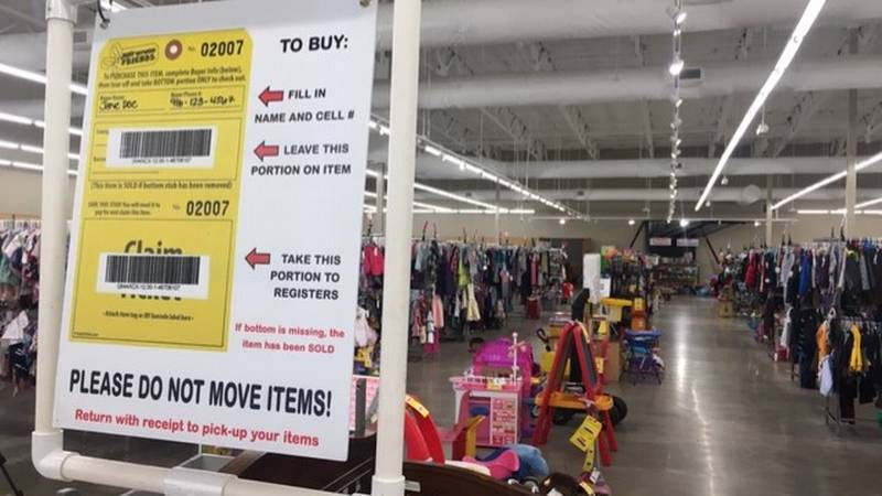 """The """"Just Between Friends"""" sale has moved to a shopping mall off Stone Ave. and River Rd."""