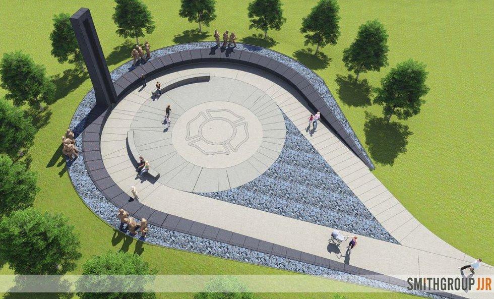 Rendering of the AZ Firefighters Memorial (Source: azfirefightersmemorial)