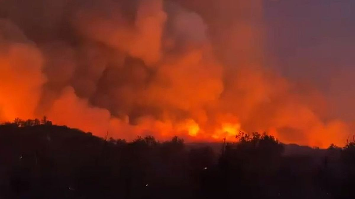 The Telegraph Fire burns Monday night, June 7, near Superior. It's one of several fires in the...