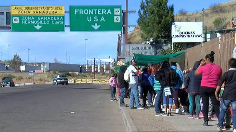 Migrants detained in the Tucson Sector are returned to Nogales, Sonora, Mexico, where they...