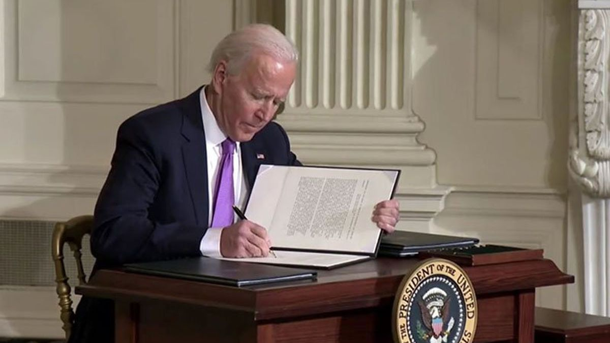 The private-prison order was one of four signed Tuesday, Jan. 26, by President Joe Biden, who...