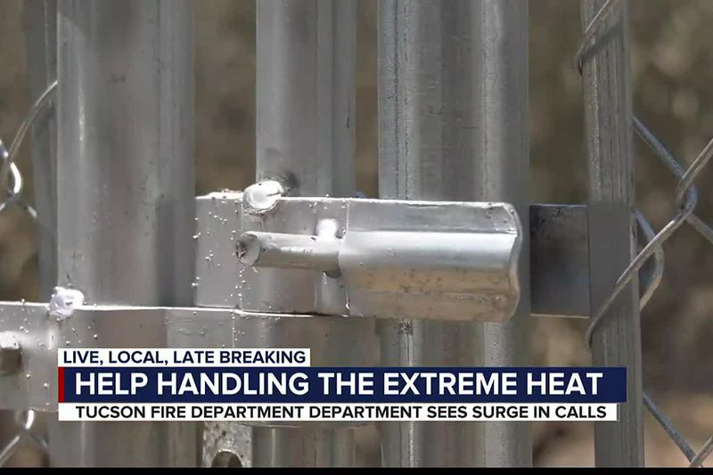 The Tucson Fire Department has responded to 38 heat-related calls in the past six days, 18 of...