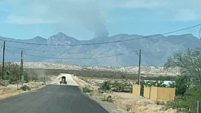 The Pinnacle Fire is burning in a remote area in the Santa Teresa Wilderness northeast of Tucson.