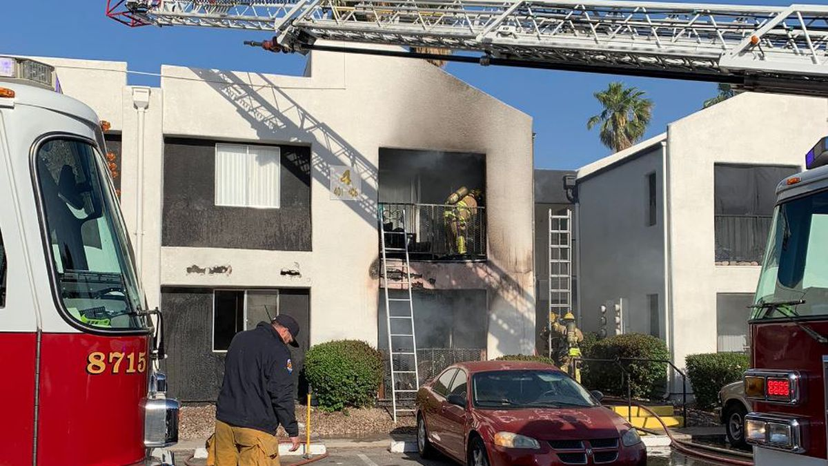 Two apartment fires sparked at an apartment complex at 1150 E. Irvington Road on Monday, May 3.