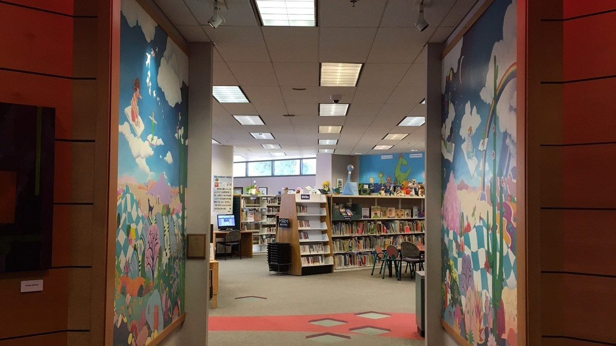 Entrance to the childrens wing at Joel Valdez Main Library