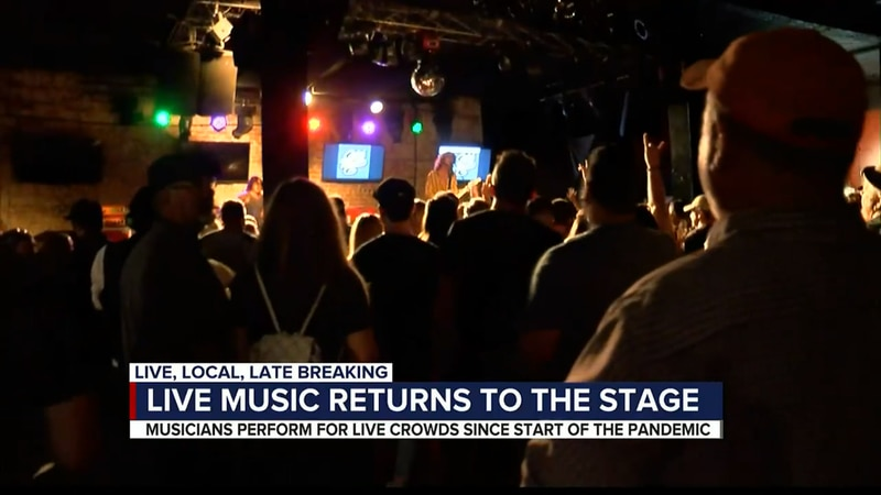Bands back on stage at The Rock