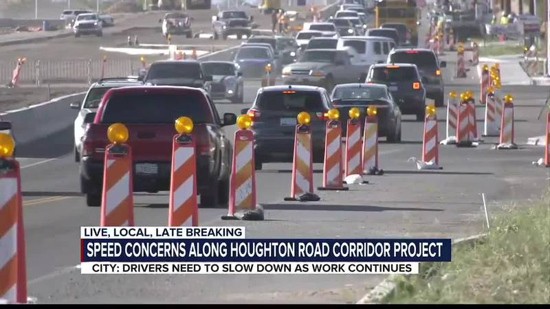 City: Drivers need to slow down as work continues along Houghton Road Corridor project