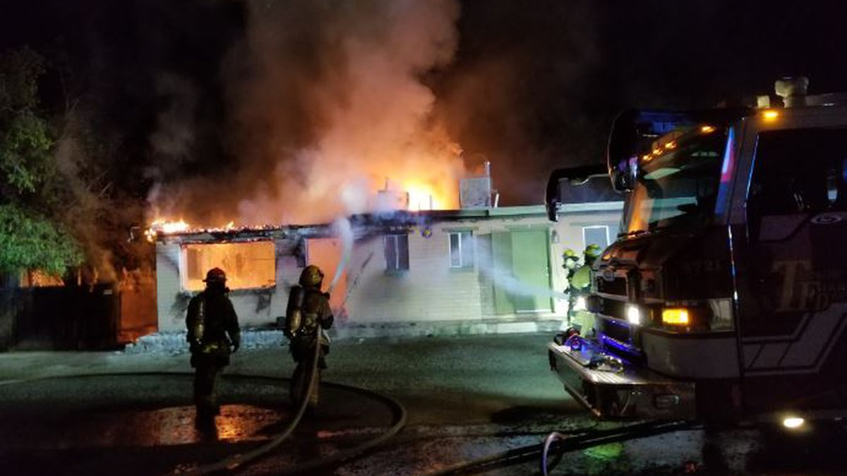 The fire happened in the 3400 block of W. Lind Drive on Wednesday, July 1.